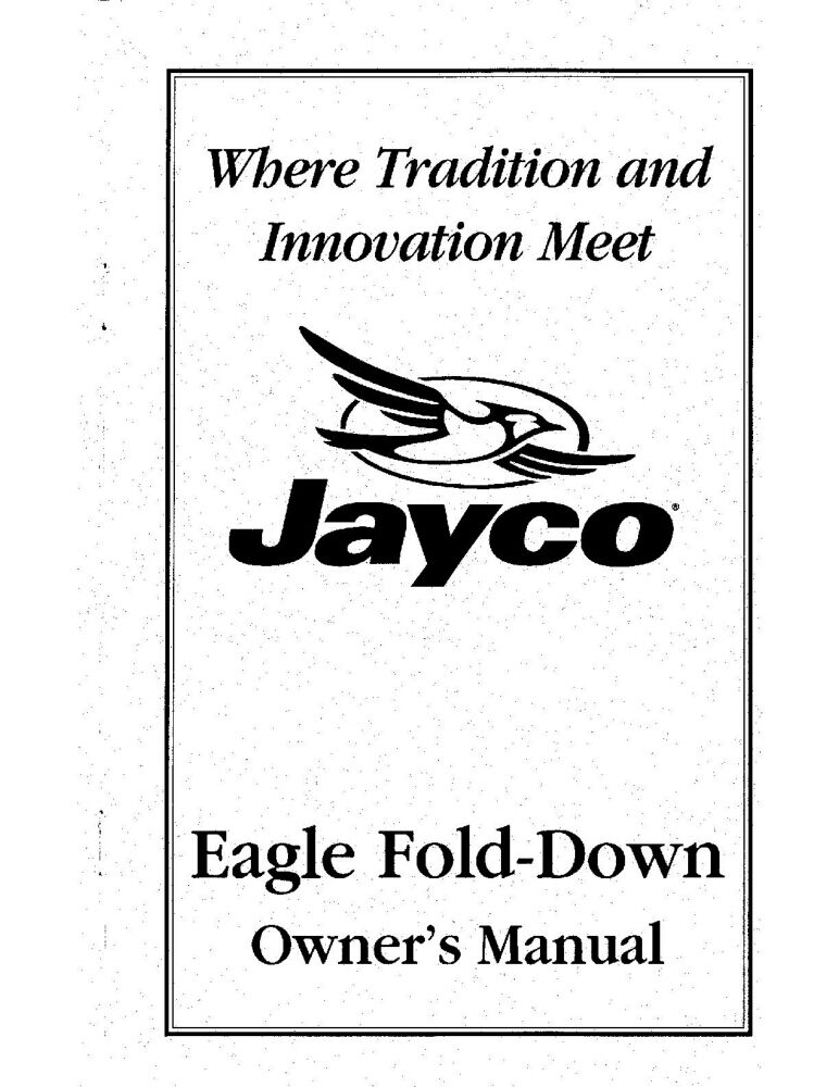 Jayco Fold-Down Pop-Up Tent Trailer Owners Manual- 1999
