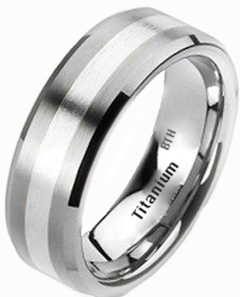 New Mens 925 Sterling Silver and Titanium Wedding Engagement Band Ring  eBay
