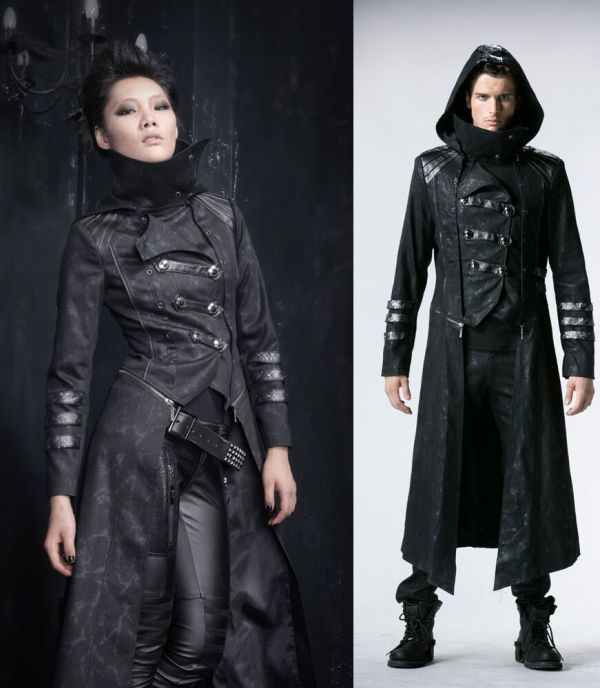 Fashion Unisex Punk Streampunk Visual Kei Gothic Long