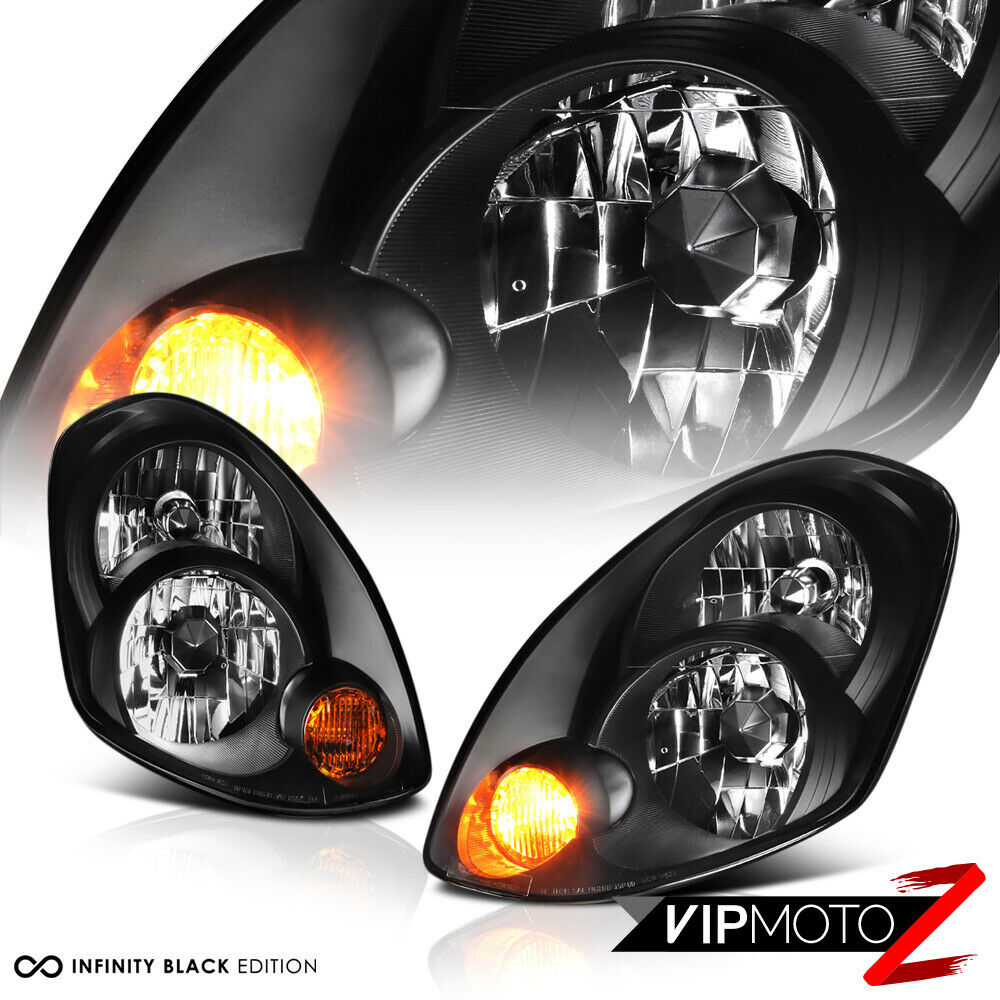 hight resolution of details about for 2005 2006 infiniti g35 sedan factory d2s hid black headlight assembly l r
