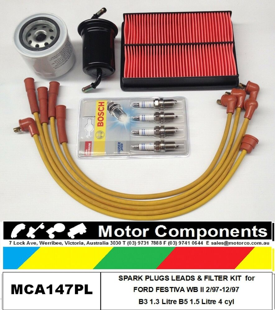 hight resolution of leads plug filter kit ford festiva wb wd b5 1 5 litre 1 97 12 97 painless wiring harness 10101 ford festiva 1 3l wiring harness
