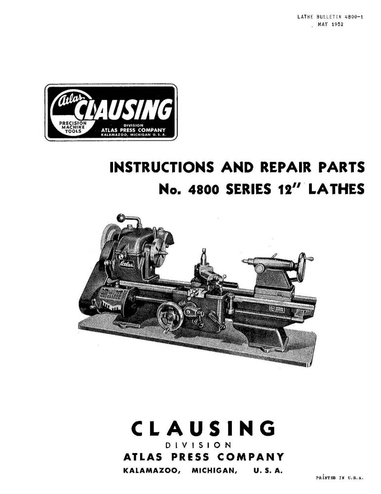 Clausing 100 / Atlas 4800 Series 12
