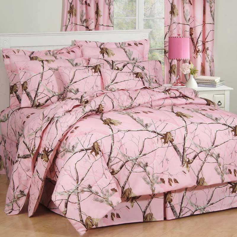 Girls Realtree AP Pink Camo Comforter Set & Sheets~Bed in