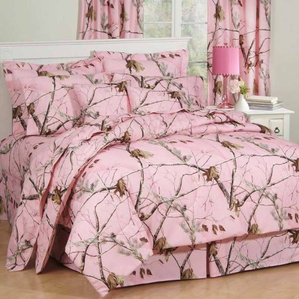 Girls Realtree Ap Pink Camo Comforter Set & Sheets Bed In Bag Twin Full Queen