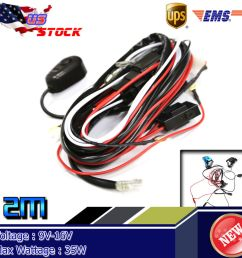 details about 12v 40a 35w led hid work fog light bar wiring harness kit on off switch relay [ 1000 x 1000 Pixel ]