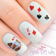 deck of cards water decal nail
