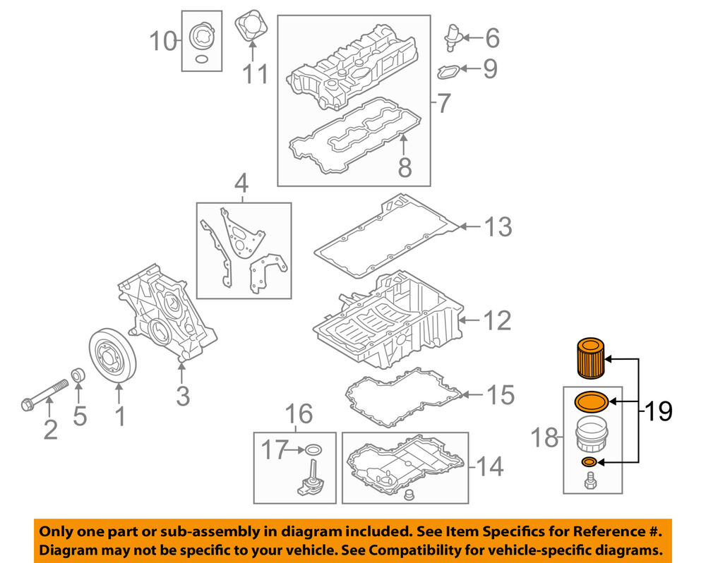 hight resolution of details about bmw oem 10 18 x6 engine oil filter 11427848321