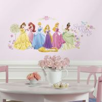 36 New DISNEY PRINCESS GLOW WALL DECALS Rapunzel Tiana