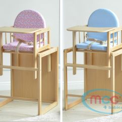 Chicco High Chairs Uk Outdoor Chair Cushions Big W Mcc Brand New 3 In 1 Baby Wooden With Play Table Cushion & Harness   Ebay