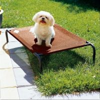 Coolaroo Raised Dog Bed Cool Steel Cat Pet Outdoor ...