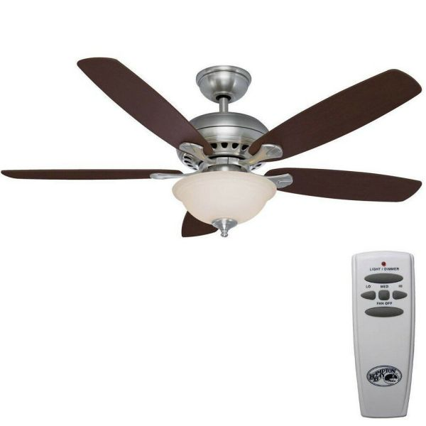 Hampton Bay Southwind 52 In. Brushed Nickel Ceiling Fan Remote 813875