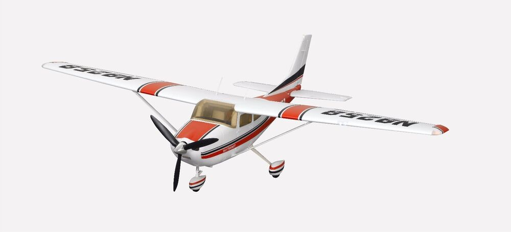 FMS 1400mm Sky Trainer 182 5CH PNP RC Plane (AT Red) No