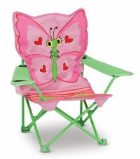 Melissa And Doug Kids Children Chair Pink Butterfly Seat ...