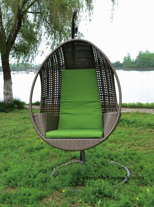 rattan egg chair patio chaise lounge chairs target high quality hanging swing in outdoor pod basket with armrest | ebay