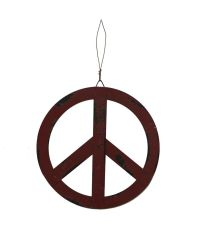 YK Decor Metal Treasured Red Peace Sign | eBay
