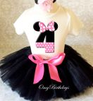 Minnie Mouse 3rd Birthday Tutu Outfit