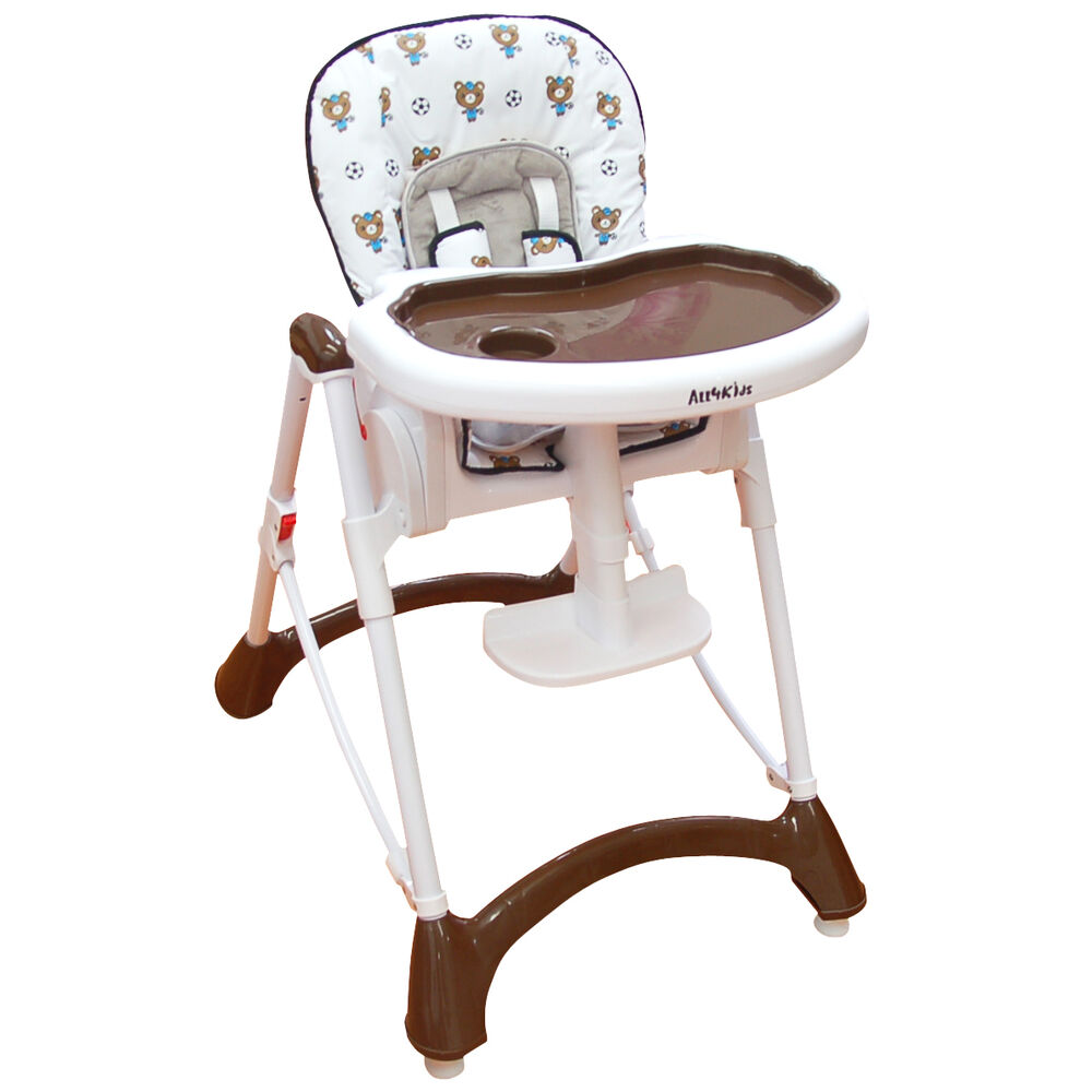 BABY Foldable Reclining HIGH CHAIR Adjustable SAFE