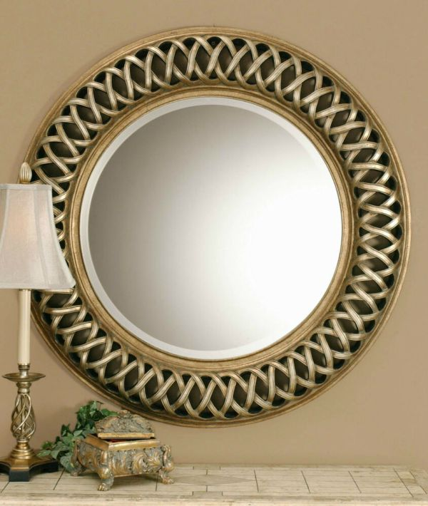 Decorative Round Wall Mirror Gold