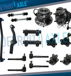 details about brand new 17pc complete front suspension kit 95 02 chevy astro gmc safari awd [ 1000 x 1000 Pixel ]