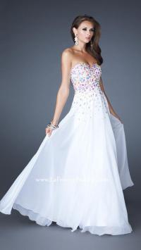NWT WHITE LA FEMME PROM/PAGEANT/FORMAL DRESS/GOWN #18532 ...