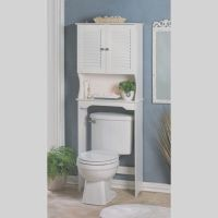 Bathroom Storage Over The Toilet White Cabinet Organizer ...
