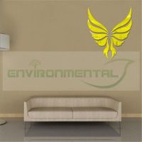 Angel Wing Modern Gold Acrylic Plastic Mirrors Wall Art