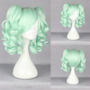 ice green curly medium pigtail
