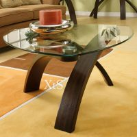 Unique Coffee Table Living Room Cocktail Furniture Glass ...