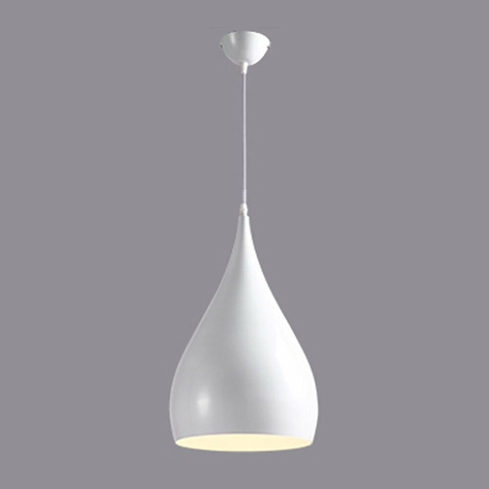 Ceiling Pendant Light Modern Retro White Metal Industrial