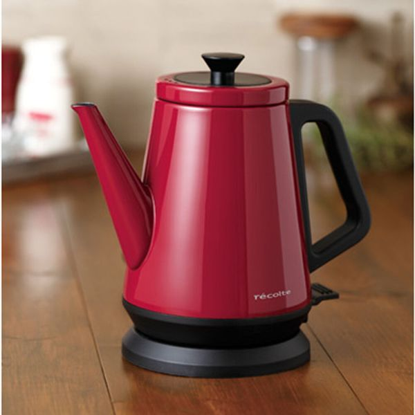 Recolte Classic Kettle Electric Hot Water Pot Coffee Hand Drip Boiler 0.8l Red