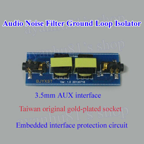 Amplifier Audio Noise Filter Ground Loop Isolator Suppressor For Sale