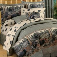 The Bears Cabin Bedding Comforter Set ~ 4 Sizes ~Wildlife ...