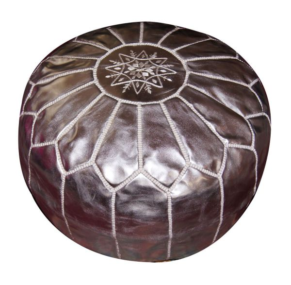 Leather Pouf Carved Moroccan Pooff Pouff Hassack Middle