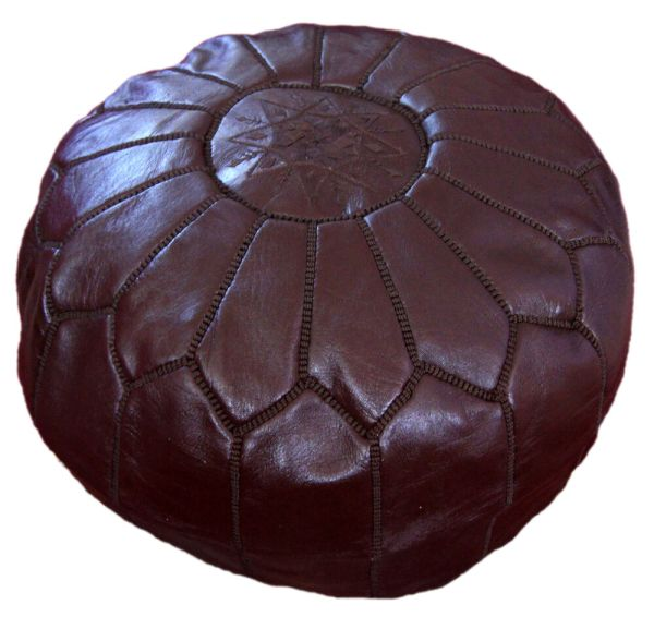 Leather Pouf Pooff Moroccan Pouff Hassack Middle East