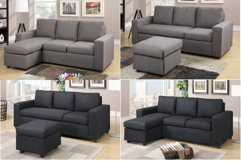 Modular Sectional Sofa Reversible Sofa Couch Furniture 2