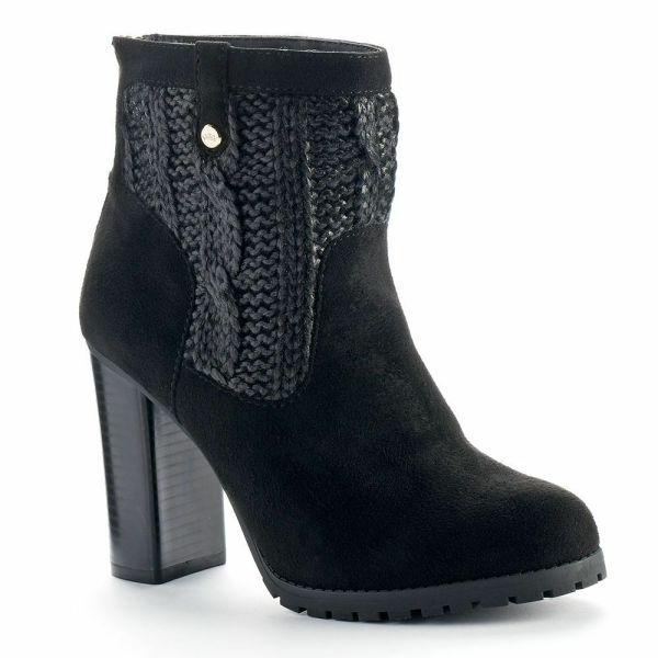 Sweater Ankle Boots for Women
