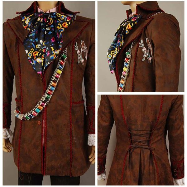 Johnny Depp Mad Hatter Alice In Wonderland Halloween Cosplay Costume Outfit Suit