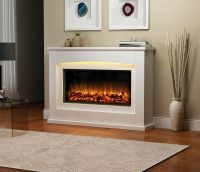 Endeavour Fires Danby Electric Fireplace in a light cream ...