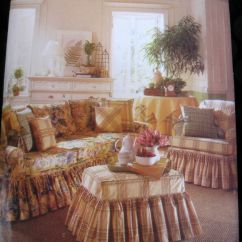 Sofa Slipcover Patterns Free Clean A Leather Waverly Home Decor Sewing Pattern Chair ...