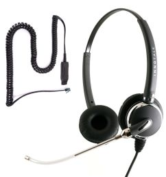 details about changeable voice tube binaural call center headset for avaya 9600 series phone [ 1000 x 1000 Pixel ]