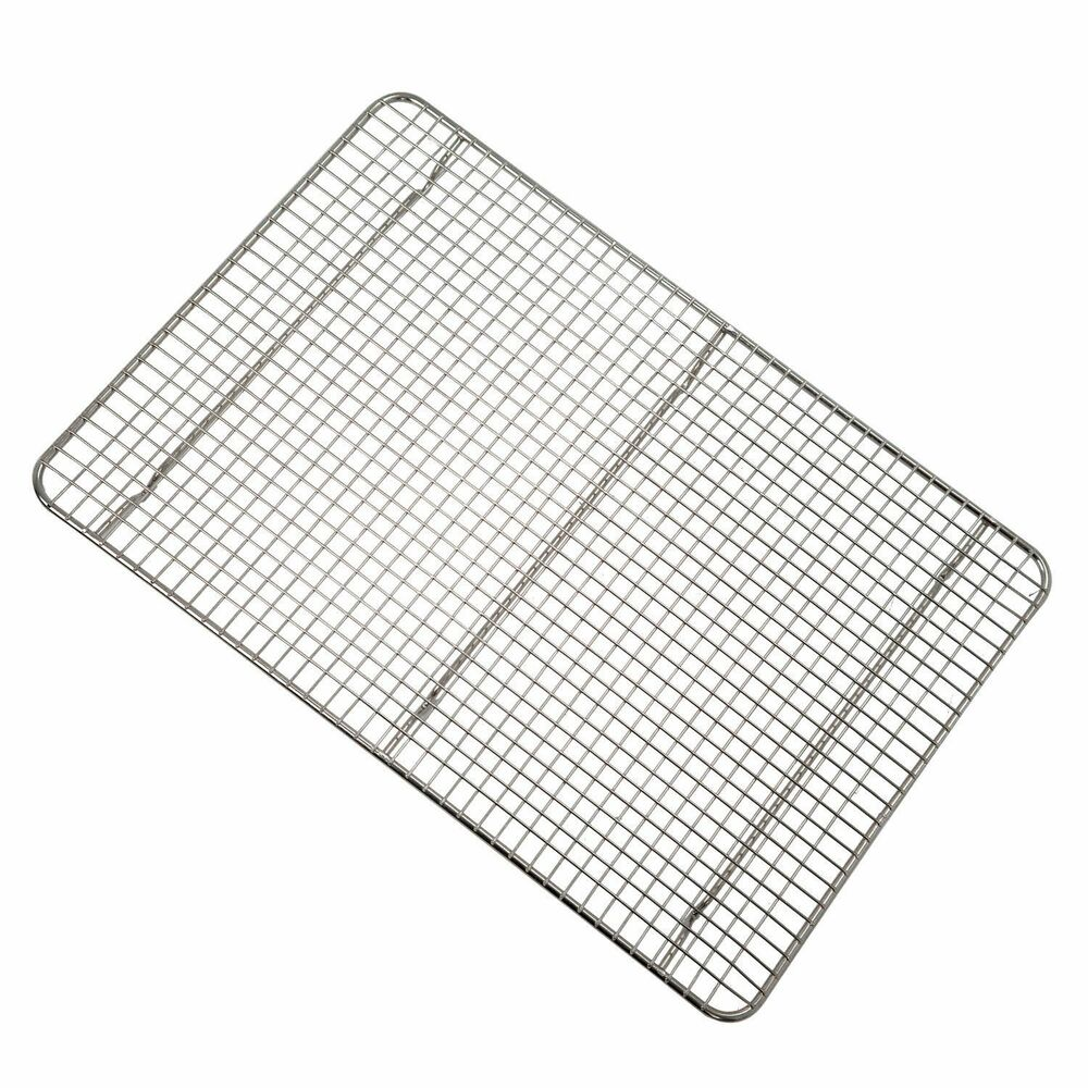 Chrome Steel 1/2 Size Sheet Pan Cross Wire Grate Cooling