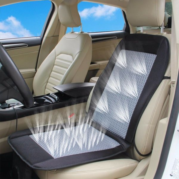 Cooling Car Seat Cushion Cover 12v Air Ventilated Fan