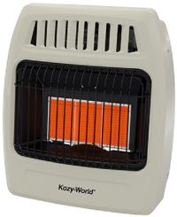Kozy World KWN391 18K NATURAL GAS Infrared Vent Free Wall ...