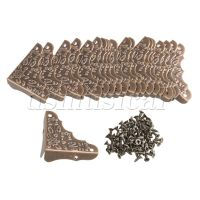 20x Bronze Iron Antique Edge Cover Protectors Corner ...