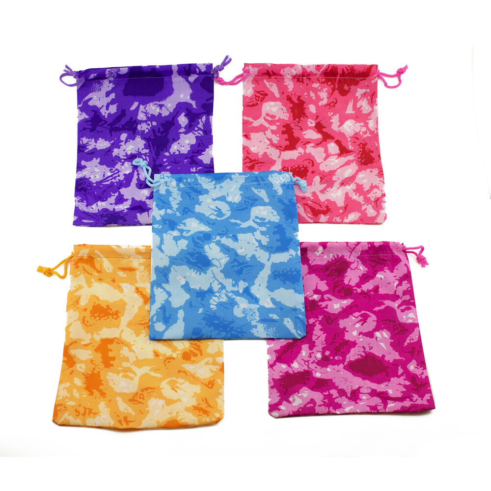 Tie Dyed Tie Dye Camouflage Drawstring Party Favor Bags