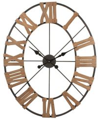 OVAL WOOD AND IRON WALL CLOCK By SPLIT P/LARGE WALL CLOCK ...