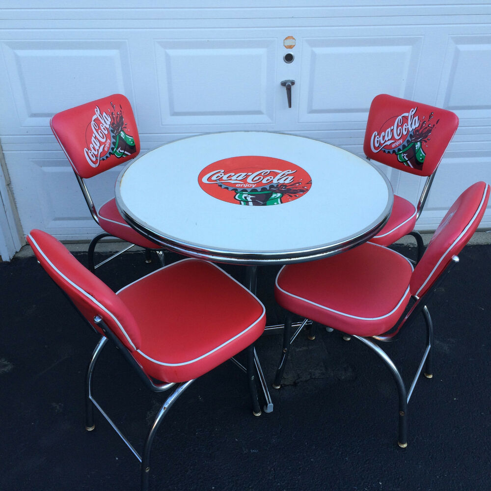 coca cola chairs and tables baby bouncy chair canada vintage table all luminum products ebay details about