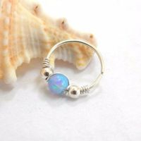Helix Earring Opal Septum Ring Cartilage Hoop opal helix ...