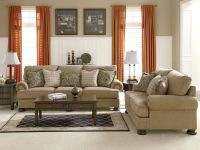 JOYCE - TRADITIONAL TAN OVERSIZED CHENILLE SOFA COUCH SET ...