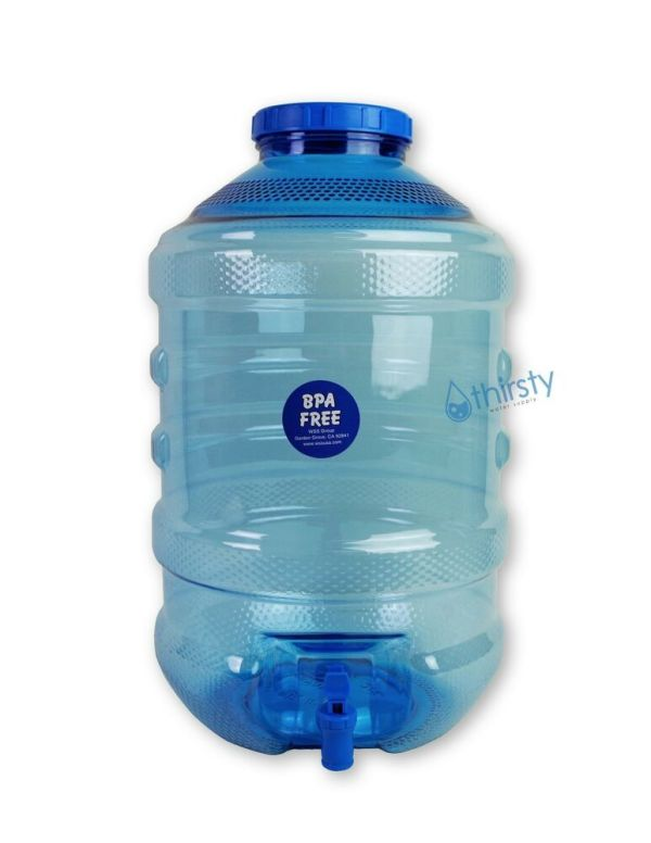 5 Gallon Water Bottle BPA Free Plastic Big Cap Jug